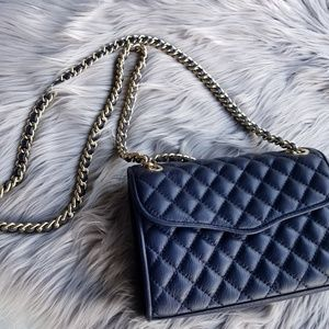 Rebecca Minkoff Navy Quilted Crossbody Bag